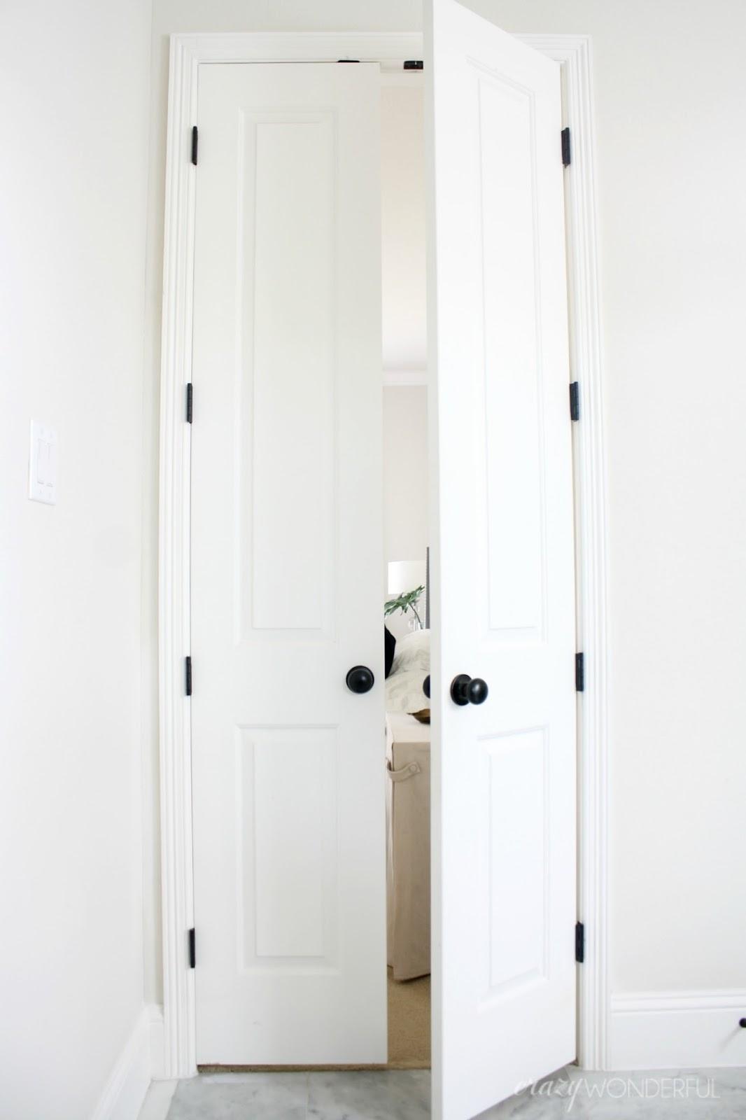 Black Door Hinges Installed Crazy Wonderful - Bathroom door hinges