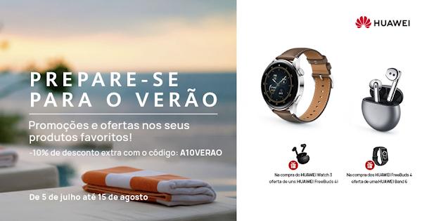 Prepare-se para o Verão com a campanha da Loja Online da Huawei