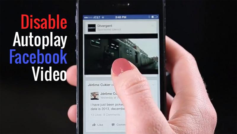 Cara disable autoplay video di Facebook