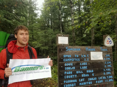 Backpacking with Banners - North Shore of Lake Superior