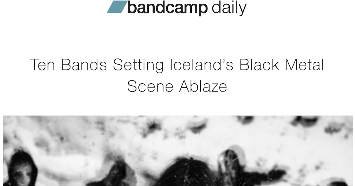 Vánagandr: BANDCAMP: TODAY'S FRONT PAGE ARTICLE