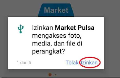 Cara Download Aplikasi Market Mobile Topup Market Pulsa Digital