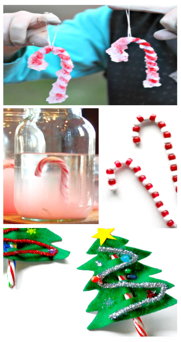 Candy cane crafts and activities for kids including a recipe for candy cane paint. #candycane #candycanepaint #candycanecrafts #candycaneartprojectsforkids #christmascrafts #growingajeweledrose #activitiesforkids