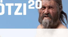 Ötzi der Mann aus dem Eis im Archaeologie Museum in Bozen Südtirol.