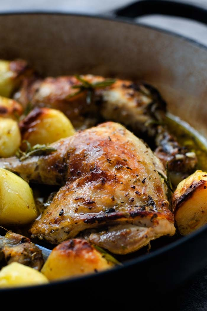 How to make greek chicken with potatoes