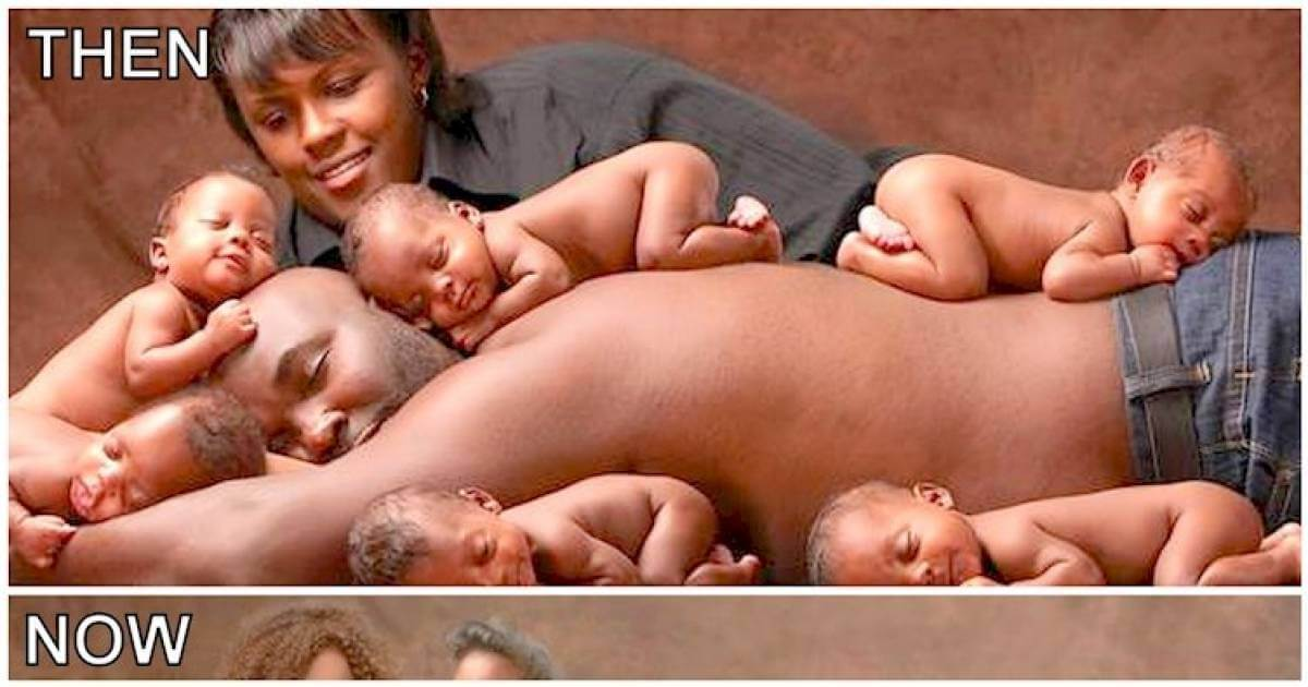 Some Years Ago, A Mother Gave Birth To 6 Beautiful Babies. Here's How The Family Looks Like Today!