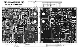 Power Amplifier Class-D Behringer B215D Schematic and PCB