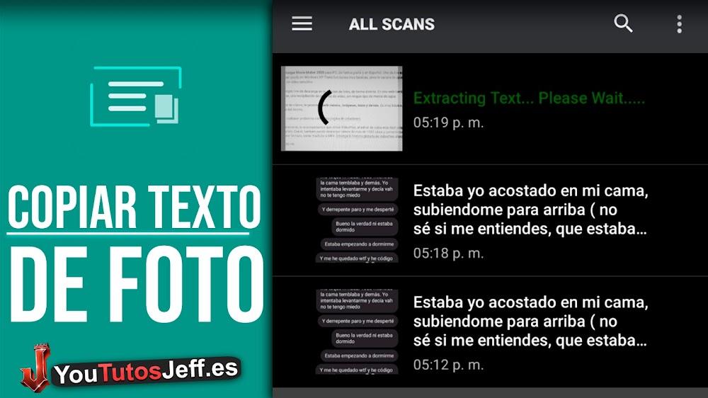 Como Copiar Texto de una Imagen desde Teléfono