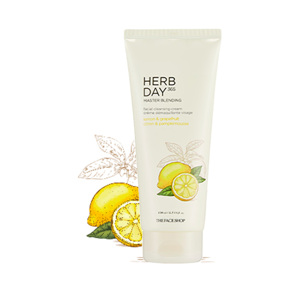 Kem Tẩy Trang HERB DAY 365 MASTER BLENDING FACIAL CLEANSING CREAM LEMON & GRAPEFRUIT 170ml