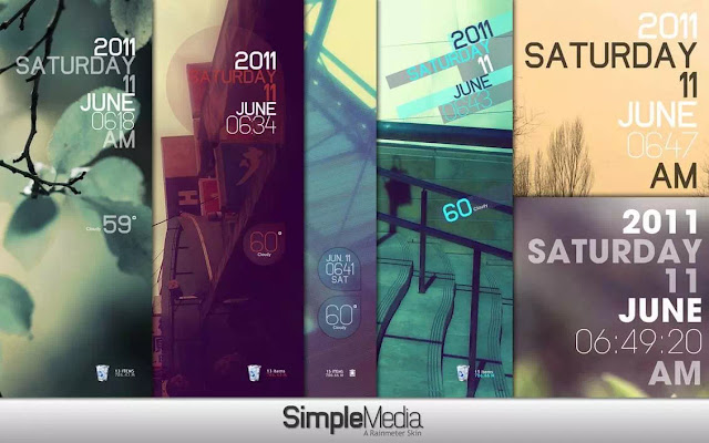 Simple Media Skin Rainmeter