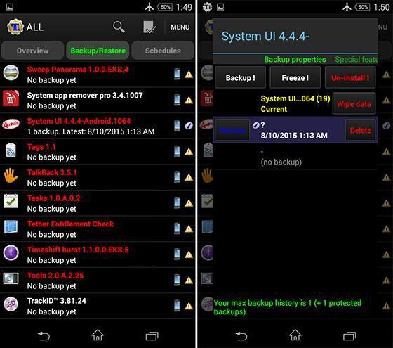 Screenshot Titanium Backup Pro v8.3.3 Premium