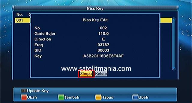 Cara Input Bisskey di Receiver MMP Lombok