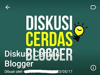 Grup Diskusi Cerdas Blogger (DCB)