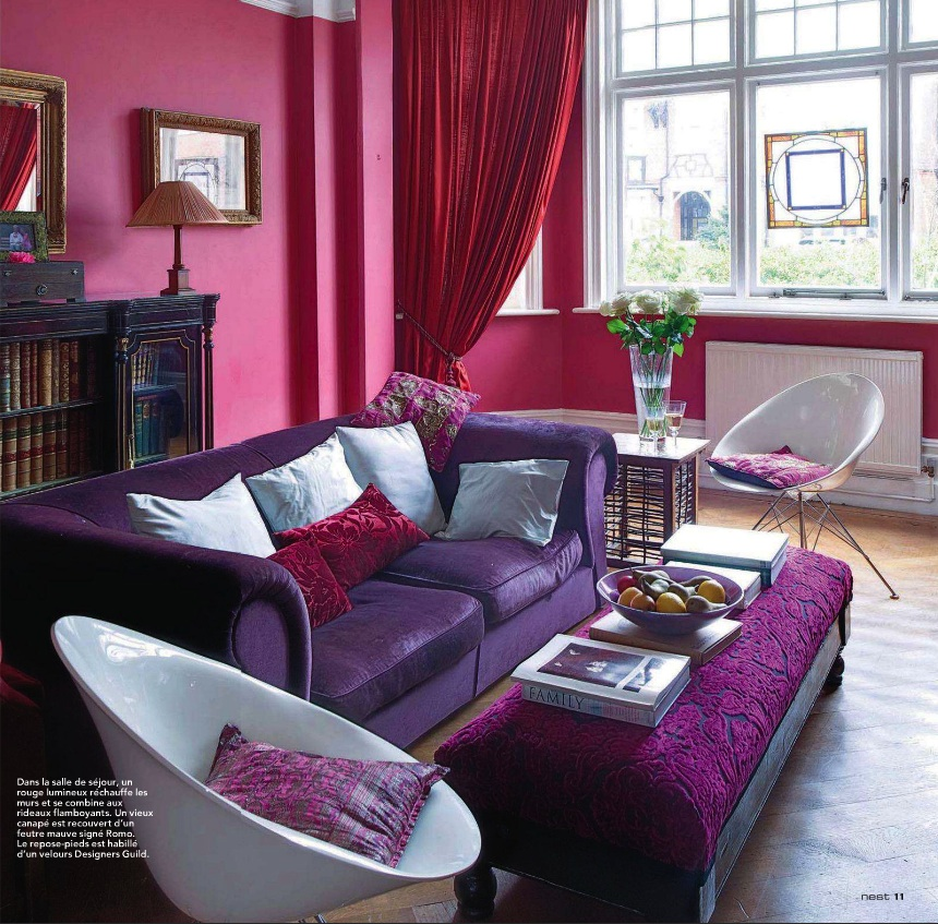 Lotus fig color story jewel toned walls - Jewel tone living room ...