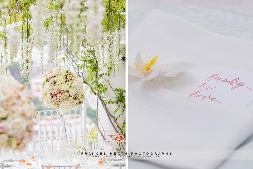 Positano wedding flowers