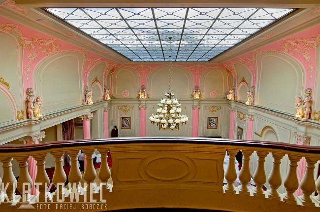 Łódź. Hotel Grand. Sala Malinowa.