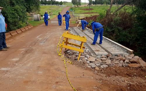 Ponte no Arroio Guaçu deve ser entregue ainda esta semana após obras