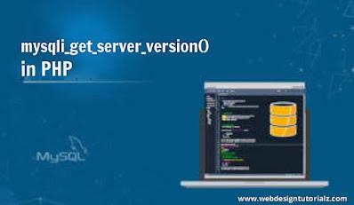 PHP mysqli_get_server_version() Function
