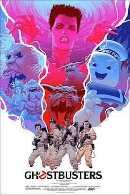 MondoCon 2019 Exclusive Ghostbusters Movie Poster Screen Print by Robert Sammelin x Mondo