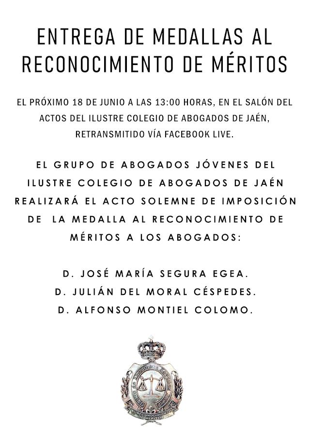 Entrega de Medallas al Reconocimiento de Méritos
