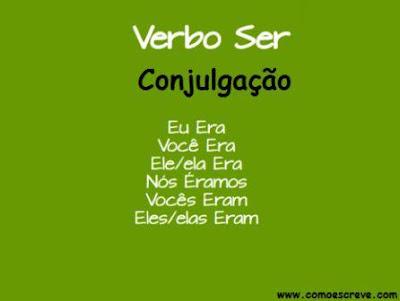 Conjugação do verbo ser