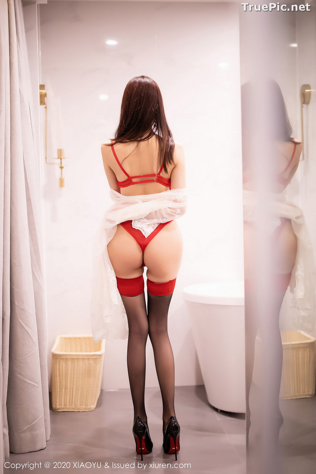 Image XiaoYu Vol.413 - Chinese Model - Yang Chen Chen (杨晨晨sugar)- Red Crystal-clear Lingerie - TruePic.net - Picture-20
