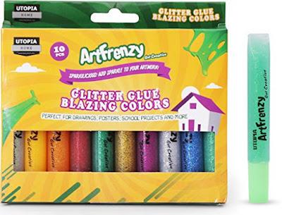 These glitter glue pens will add some razzle dazzle to your purple daisy petal craft