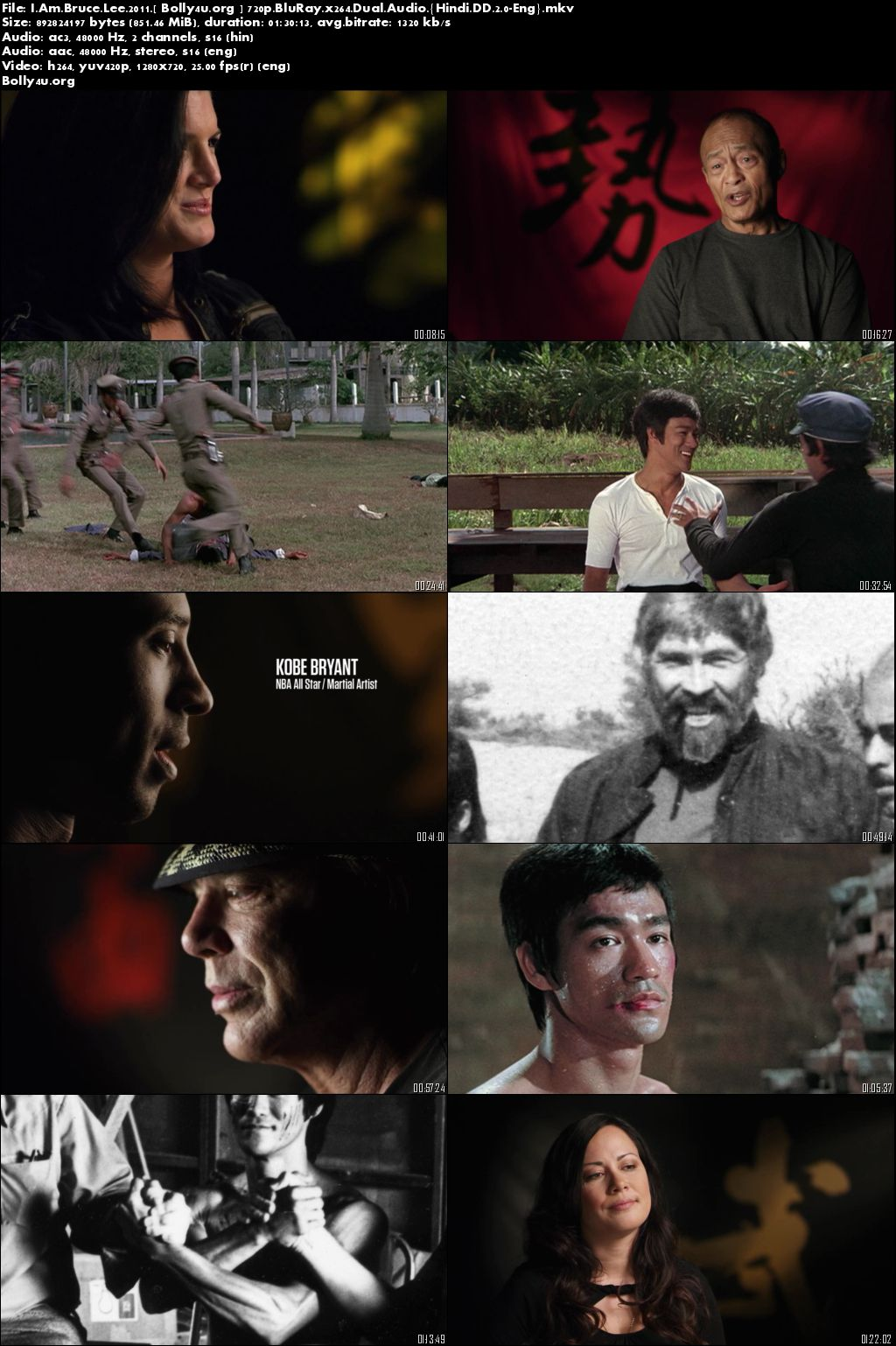 I Am Bruce Lee 2011 BluRay Hindi 720p Dual Audio 850Mb Download