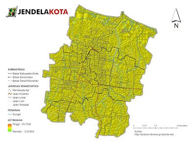 Peta Topografi Kota Pekalongan