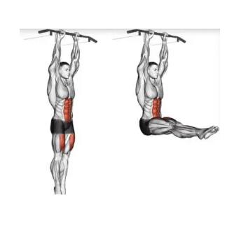 ABS Exercises - hanging leg raise