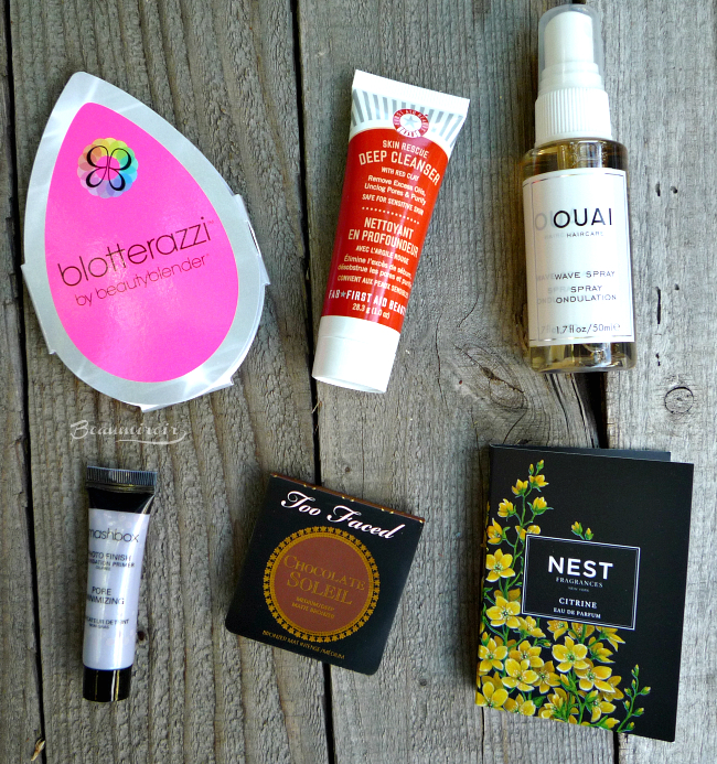 Contents of the Sephora Play! July 2016 beauty subscription box!