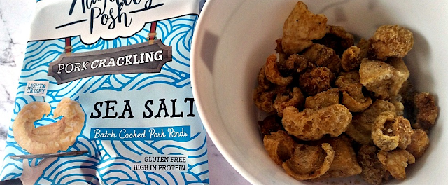 A packet of Sea Salt Pork Crackling