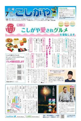 広報こしがやお知らせ版 令和元年7月