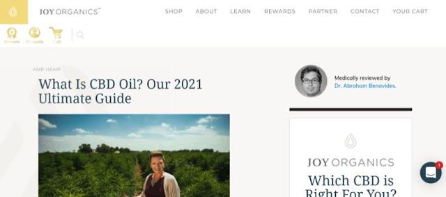 joy organics blog content
