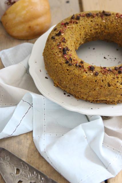 Cuillère et saladier : Gâteau à la courge et aux épices vegan (cuisson vapeur)