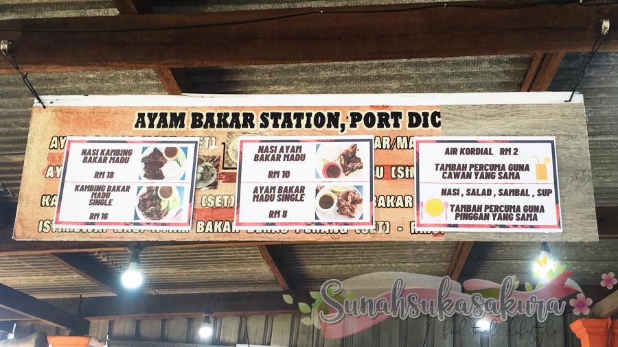 harga menu ayam bakar station port dickson