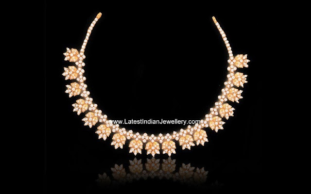 Light Weight Fancy CZ Necklace