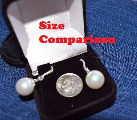 orrous legacy 18k Gold Plated White Shell Pearl with Cubic Zirconia Accented Drop Earrings comparion shot