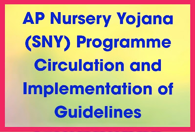 AP Nursery Yojana (SNY) Programme Circulation and Implementation of Guidelines