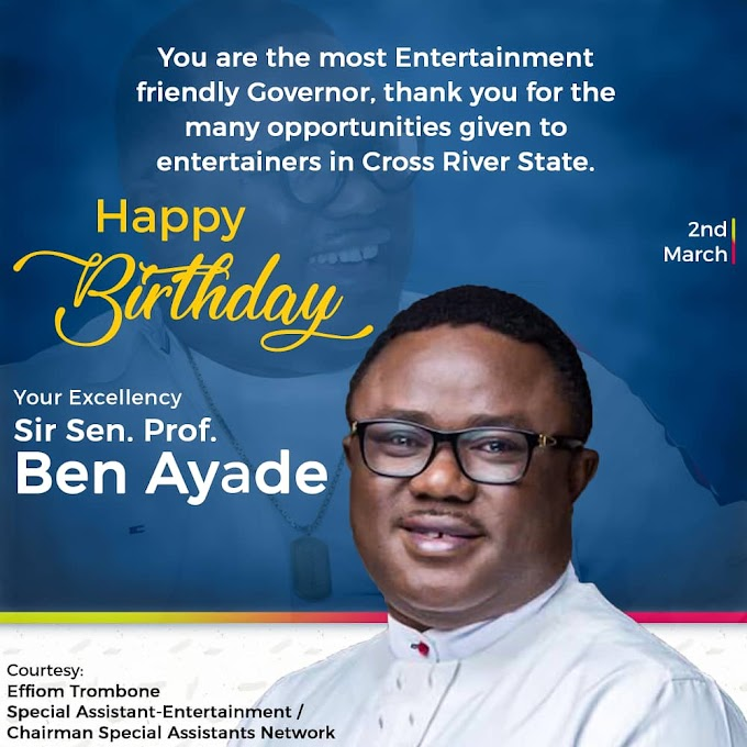NEWS: Cross River entertainers celebrate Ayade at 53