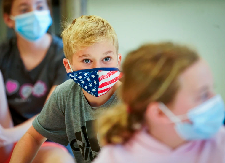 In schools, the state recommends masks for the unvaccinated and for everyone if school officials cannot monitor vaccination status.