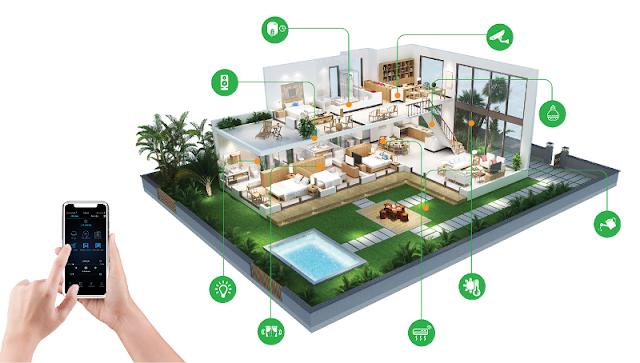 chung cư tây nam linh đàm trang bị hệ thống smart home