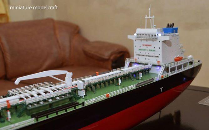 desain sketsa miniatur kapal tanker mt fastron milik pt pertamina indonesia terbaik