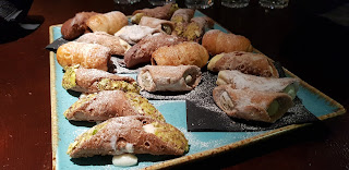 Salvis manchester cannoli on a tray for breakfast