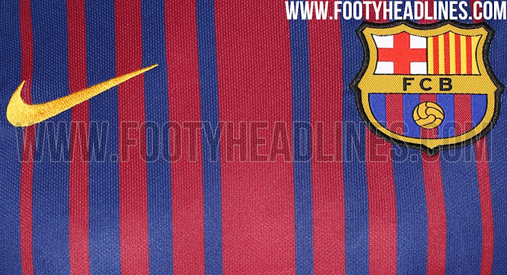 2cc44577f09 First Look At Barcelona s New 2017 2018 Home Kit - SPORTbible