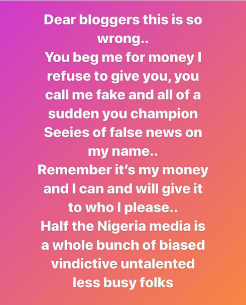 """I am being punished because of Linda Ikeji, she is not my friend""- Tonto Dikeh speaks on controversies"