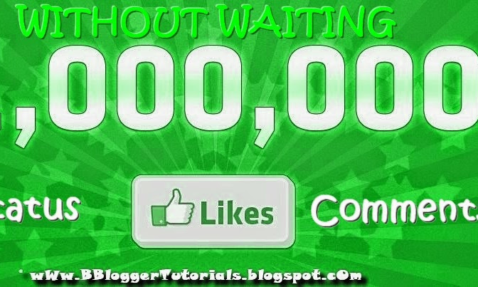 How to Get Unlimited LIKES on Facebook Status & Comments For Free?