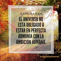 El universo no está obligado a estar en perfecta sintonía...