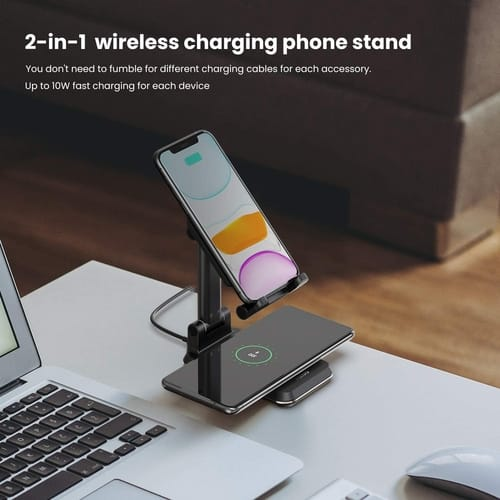 MEISO 10W Max Qi-Enabled Wireless Charging Holder