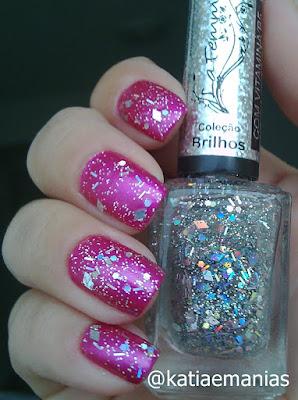 La Femme, glitter, katiaemanias, Born Pretty, Nail Plus, carimbada,